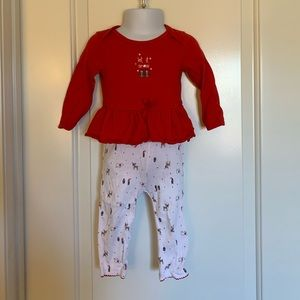 Little planet organic carters Christmas outfit